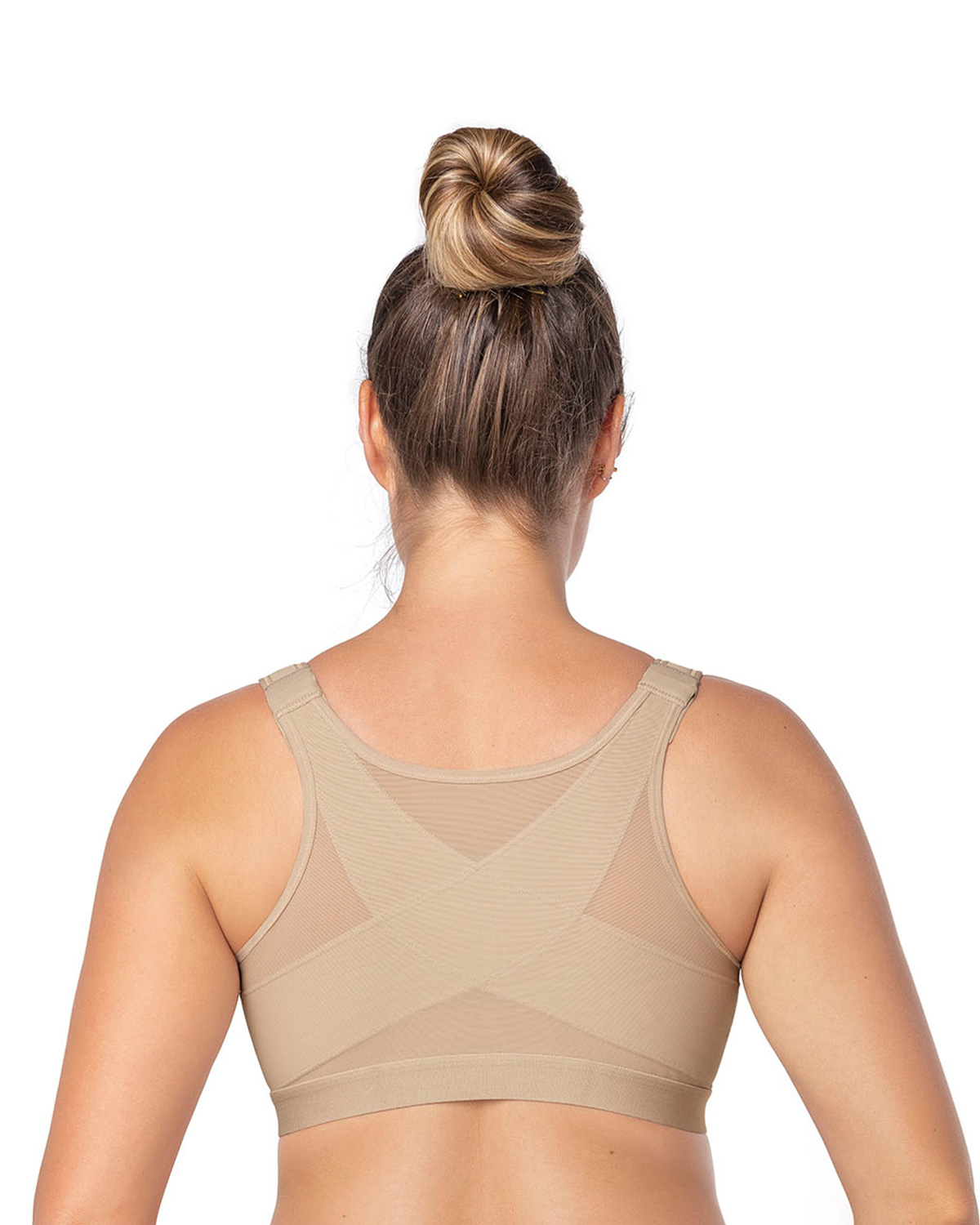 a268afb09a Leonisa Posture Corrector Wireless Back Support Bra 32 C Nude 32c