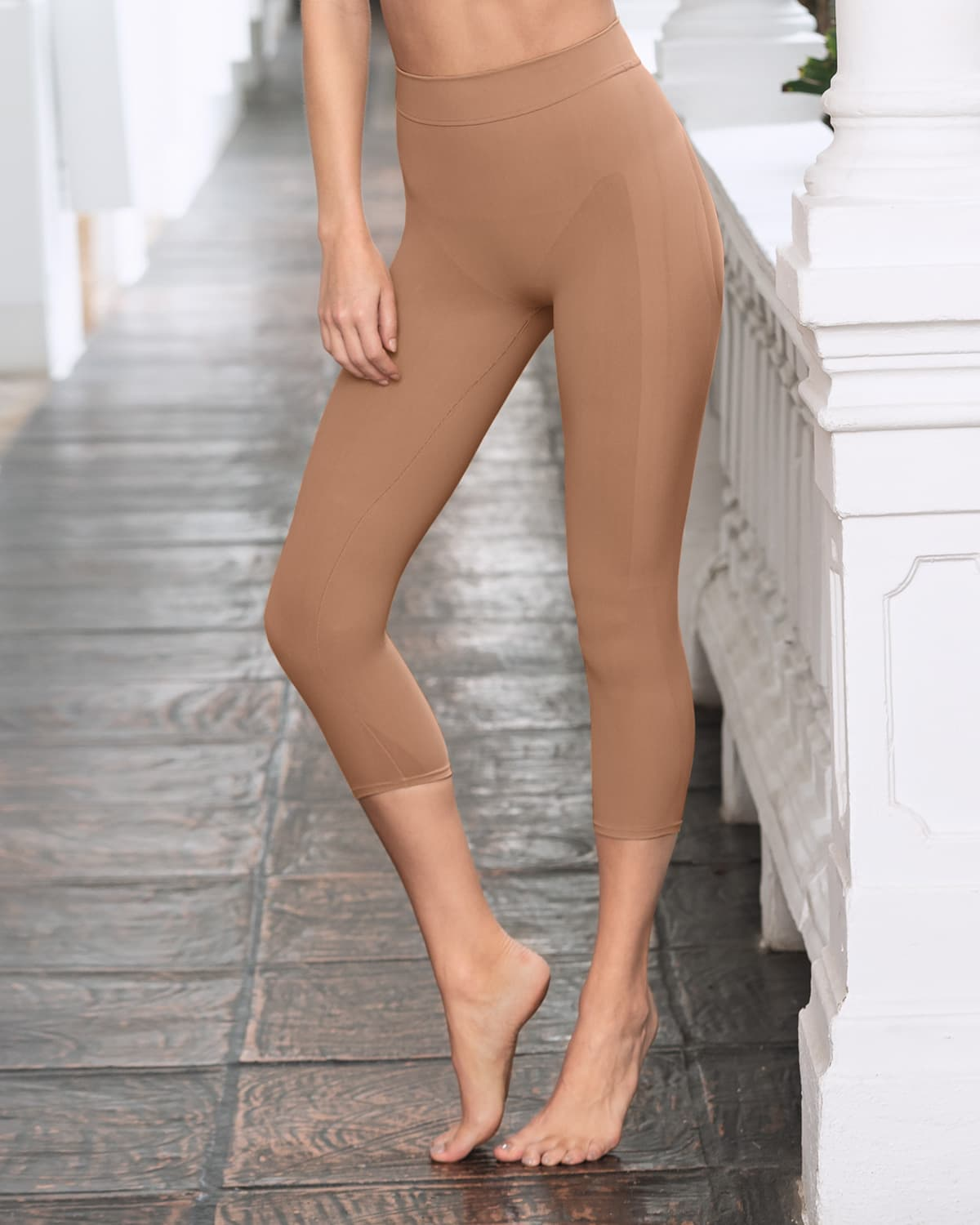 Leonisa Invisible Leggings Shaper L Beige Without Lace | eBay