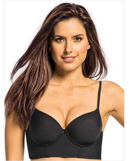 Retro Long Line Push Up Bra