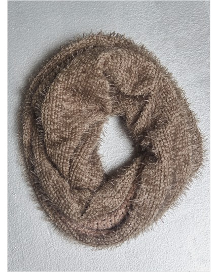 Reversible Knit Infinity Scarf