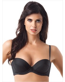 convertible push up bra-700- Black-MainImage