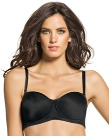 reduce 2 cups strapless minimizer bra-700- Black-MainImage