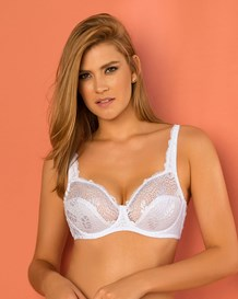 most popular full coverage support bra in lace-000- White-MainImage