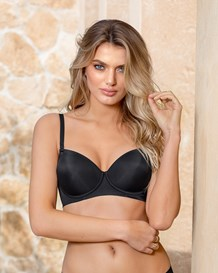 light support push up bra-700- Black-MainImage