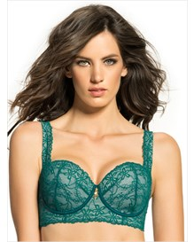 fabulous lace balconet bra-020- Green-MainImage