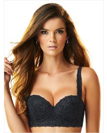fabulous lace balconet bra-700- Black-MainImage