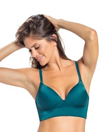 deep plunge wireless push up bra-728- Dark Green-MainImage