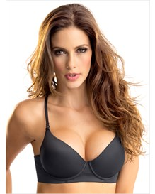 invisible high push up bra with memory form-700- Black-MainImage