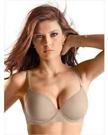 invisible high push up bra with memory foam-802- Nude-MainImage