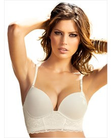 deep plunge bustier bra with extreme push up-898- Ivory-MainImage
