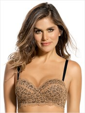 lace balconet push up bra-074- Gold-MainImage