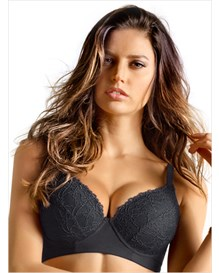lacey push-up control bra-700- Black-MainImage