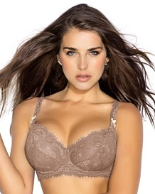 back smoothing lace bra-857- Brown-MainImage