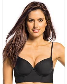 retro long line push up bra--MainImage