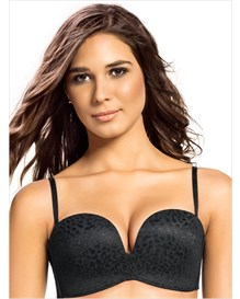 extreme push up strapless bra in lace--MainImage