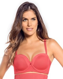 luxurious balconet support bra-244- Coral-MainImage