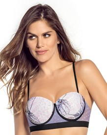 high push-up balconet bra with lace--MainImage