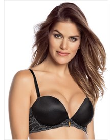 lace balconet bra with triple push-up-700- Black-MainImage