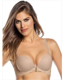 lace balconet bra with triple push-up-802- Nude-MainImage