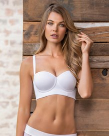 strapless long line push-up bra-000- White-MainImage