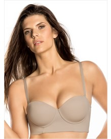 strapless long line push-up bra-802- Nude-MainImage