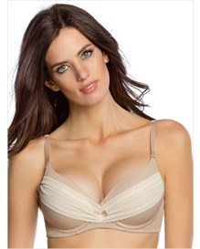 lace extreme push-up bra  add 2 cups-802- Nude-MainImage