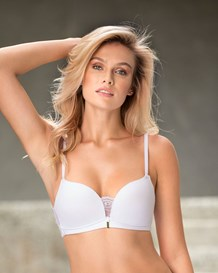 light wireless high push-up bra with lace--MainImage