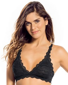 lace triangle bra-700- Black-MainImage
