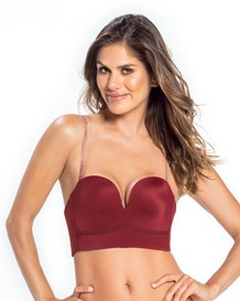long line strapless push-up bra-174- Burgundy-MainImage