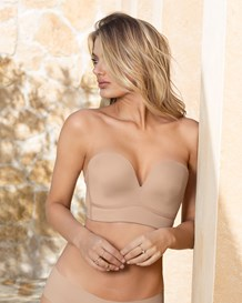 long line strapless push-up bra-802- Nude-MainImage