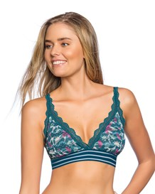 bralette triangular en encaje sin arco-006- Blue with Pink Flowers-MainImage