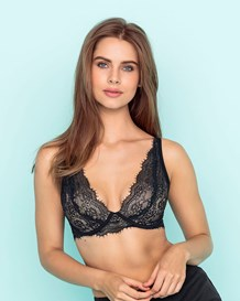 deep plunge lace bra-700- Black-MainImage