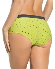 semi low-rise smooth hiphugger panty-100- Yellow Green-MainImage