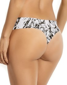 no ride-up seamless thong panty-012- Black Print-MainImage