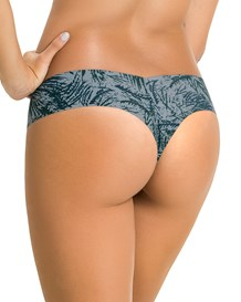 no ride-up seamless thong knicker-477- Green Leaves-MainImage