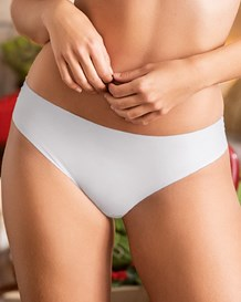 Seamless Cheeky Hiphugger Panty with Lace Top Back