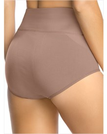 hi-waist control panty-857- Brown-MainImage