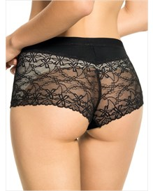 fabulous lace hip hugger control panty-395- White and Black-MainImage