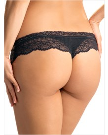 graceful lace thong panty-700- Black-MainImage