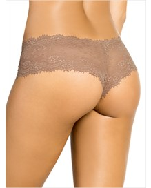 elegant lace hip hugger panty-857- Brown-MainImage