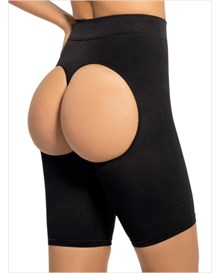 invisible shaper short with open-rear lift-700- Black-MainImage