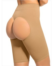 invisible shaper short with open-rear lift-880- Beige-MainImage