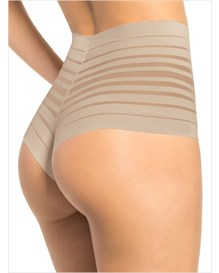 retro high-waist thong panty-802- Beige-MainImage