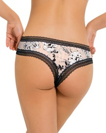 smooth personal fit thong-229- Pink with Flowers-MainImage