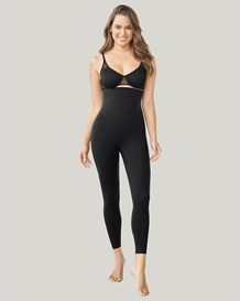 high waist leggings with tummy control-700- Black-MainImage