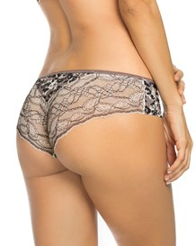 cheeky lace panty with booty lift-845- Leopard Print/Ivory-MainImage