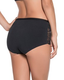 cotton high-waist panty with smartlace-700- Black-MainImage