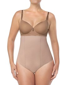 strapless tummy sculpting body shaper with thong--MainImage