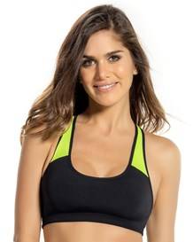 top deportivo en malla y microfibra-074- Black and Neon Green-MainImage
