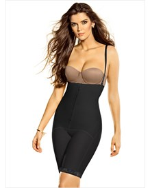mid-thigh strapless shaper-700- Black-MainImage